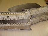 Комплект подушок сірі 3шт оксамит, фото 3