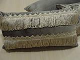 Комплект подушок сірі 3шт оксамит, фото 4