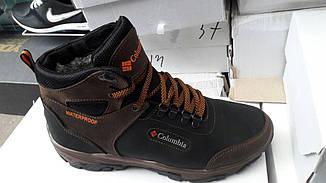 Мужские зимние кожаные ботинки Columbia реплика