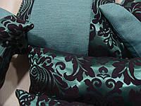 Комплект подушек  бирюза коронка, 5шт, фото 1