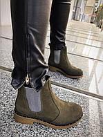 Ботинки Chelsi на резинке. Натуральная кожа нубук, внутри итальянская байка.