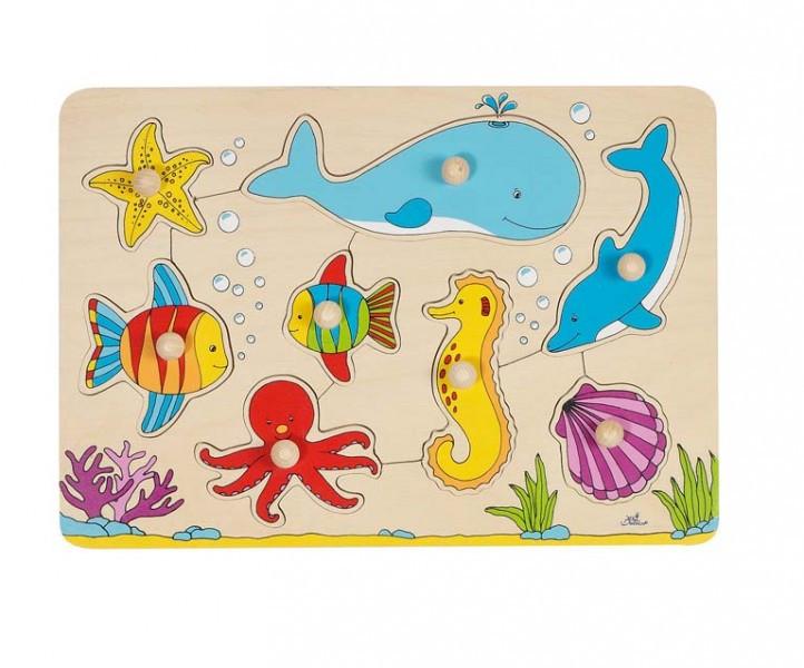 """GOKI - Пазли-вкладиші """"Морські тварини"""""""