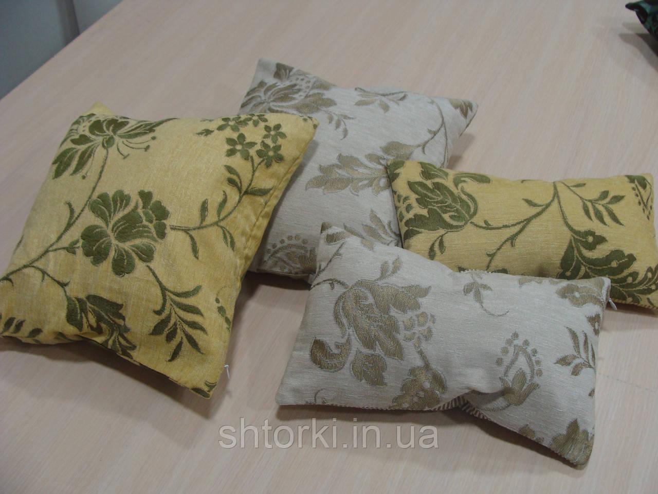 Комплект подушек  беж оливка зелень, 4шт
