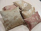 Комплект подушок беж коричневі теракот , 6шт, фото 2