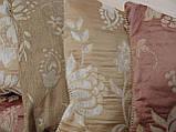 Комплект подушок беж коричневі теракот , 6шт, фото 3