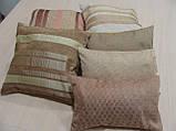 Комплект подушок беж коричневі теракот , 6шт, фото 4