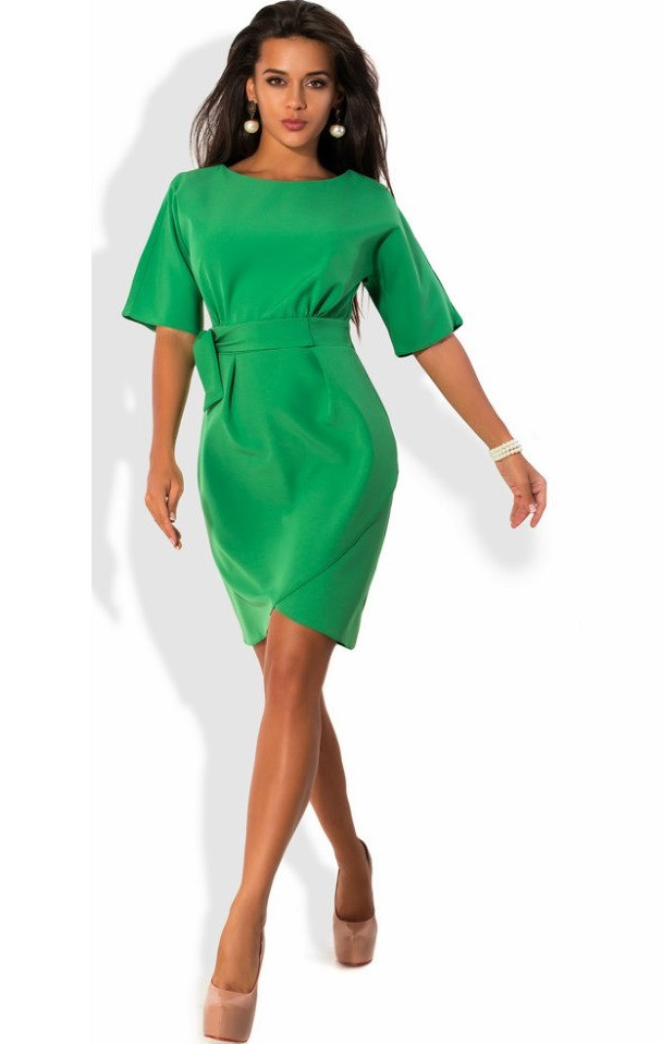 Зеленое платье с юбкой на запах - Lace Secret - Магазин женского белья и  одежды в c9aff0a6636