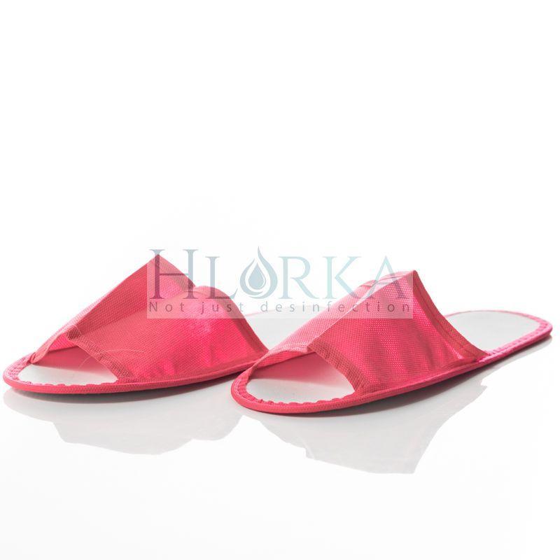 Тапочки одноразовые, женские, размер 36-39, красные, TM Etto
