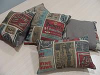 Комплект подушек Лейбы, 5шт серые, фото 1