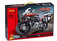 Конструктор Decool 3369В 2-в-1 Мотоцикл BMW R 1200 GS Adventure Красный (аналог Lego Tehnic),603 дет