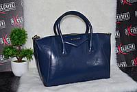 Кожаная синяя сумка Givenchy Живанши.