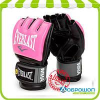 Перчатки тренировочные Everlast ММА Pro Style Grappling Gloves розовый