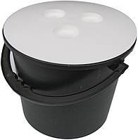 """Ведро пластиковое 8 литров чёрное с крышкой """"Юнипласт"""", фото 1"""