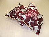 Комплект подушек бордо и молочные  завитки, 2шт 30х30см, фото 3