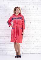 Велюровый халат с капюшоном  женский большие размеры, фото 1
