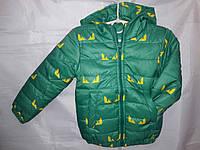 Куртка детская Бетмен на синтепоне с капюшоном 92-116 см