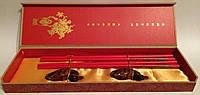 """Палички для їжі """"Дракони"""", з підставками в подарунковій коробці"""