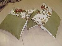 Комплект подушек  Розы молочные и зелень, 3шт 30х30, фото 1