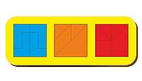 Сложи квадрат, Б.П.Никитин, 3 квадрата, ур.4, 240*90 мм, 064107