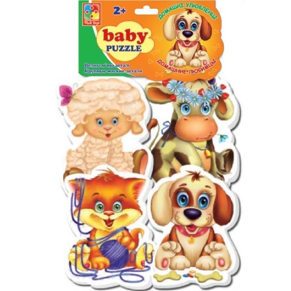 Беби пазлы Vladi Toys Домашние любимцы 4 шт. (VT1106-07)