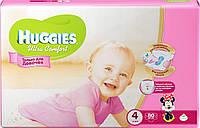 Huggies Ultra Comfort для девочек 4 ( 8-14кг) 80шт. Россия