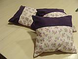 Комплект подушок Трояндочки бузок, 3шт, фото 3
