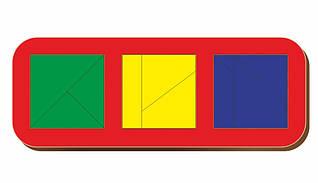 Сложи квадрат, Б.П.Никитин, 3 квадрата, ур.3, 240*90 мм, 064105