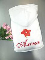 Женский махровый халат «Горячее сердце»