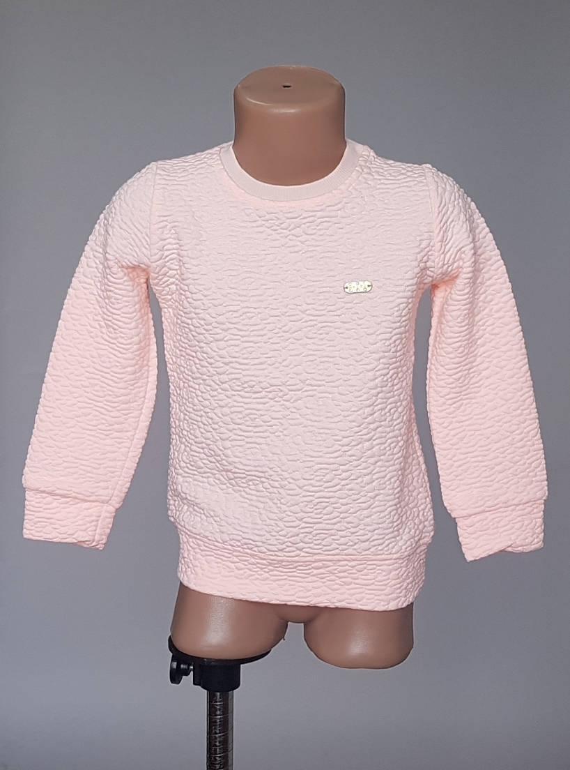 Однотонная кофточка для девочек из фактурной ткани