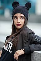 Шапка женская 162 (6 цв), шапки оптом, в розницу, шапки от производителя, дропшиппинг черный