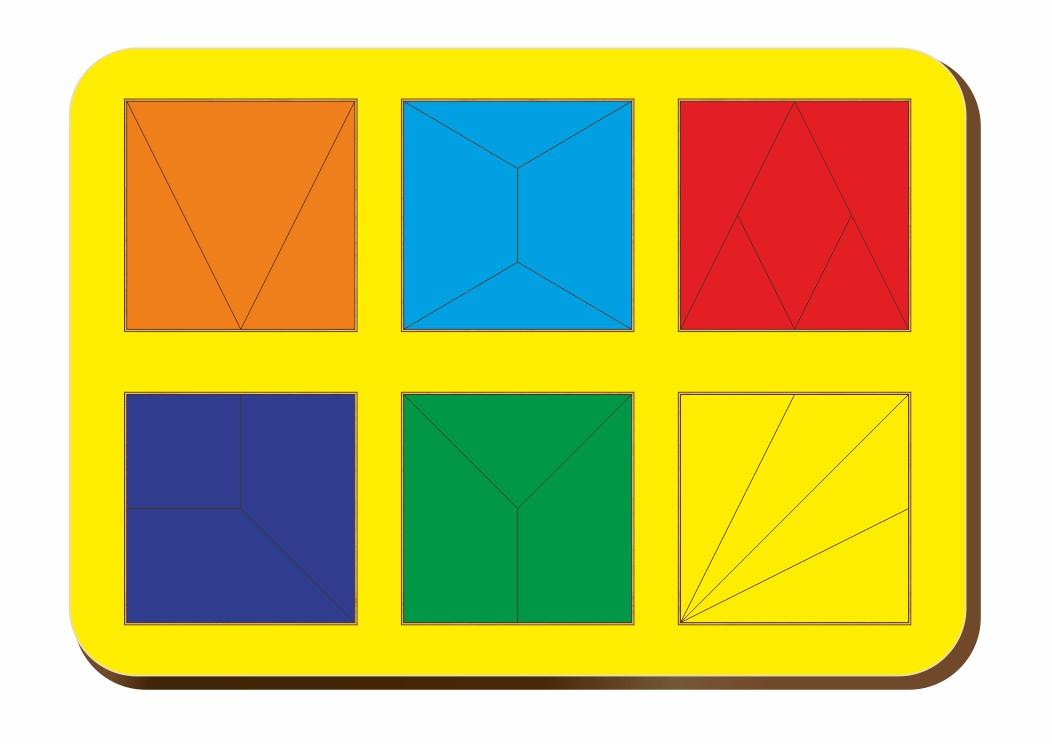 Сложи квадрат, Б.П.Никитин, 6 квадратов, ур.2, 240*170 мм, 064302