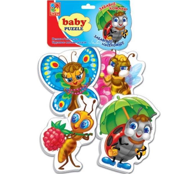 Беби пазлы Vladi Toys Забавные насекомые 4 шт. (VT1106-06)