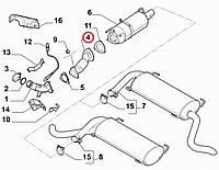 Труба выхлопная (гофра) NUOVO DUCATO 2006-2014, Арт. 1356535080, 1356535080, FIAT
