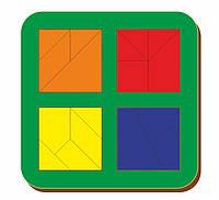 Сложи квадрат, Б.П.Никитин, 4 квадрата, 2х2, ур.3, 140*140 мм, 064206