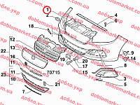 Бампер передний Linea 2007-, Арт. 735548097, 735548097, 735592387, 735548097,735592387, FIAT
