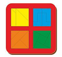 Сложи квадрат, Б.П.Никитин, 4 квадрата, 2х2, ур.3 140*140 мм, 064205