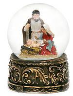 Сувенир снежный/водяной шар, рождественский вертеп (9 см)