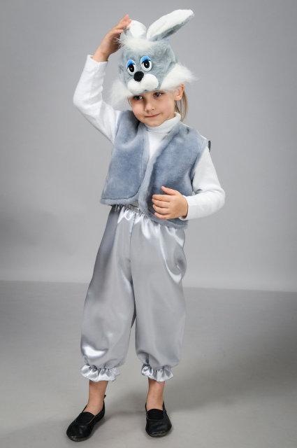 Карнавальный костюм для мальчика Заяц с атласными бриджами 3-8 лет