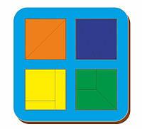 Сложи квадрат, Б.П.Никитин, 4 квадрата, 2х2, ур.1, 140*140 мм, 064202