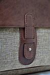 Сумка унисекс VS123 leather canvas 36Х30Х9  см, фото 4