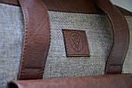 Сумка унисекс VS123 leather canvas 36Х30Х9  см, фото 5