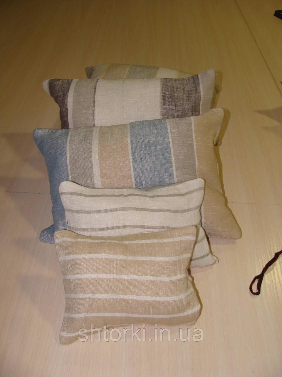 Комплект подушек  полосочка натуралка, 5шт