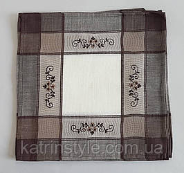 Комплект квадратных салфеток с вышивкой  (6 шт)