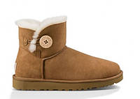 Сапожки UGG Mini Bailey Button Chestnut Оригинал