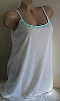 Ночная сорочка женская р/р 48. Мультирип. Молочная