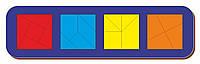 Сложи квадрат, Б.П.Никитин, 4 квадрата, ур.3, 300*90 мм, 064506