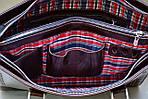 Портфель деловой VS124 brown leather 38х30х7  см, фото 5