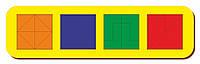 Сложи квадрат, Б.П.Никитин, 4 квадрата, ур.3, 300*90 мм, 064505