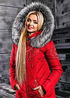 Яркая женская теплая зимняя куртка 2348