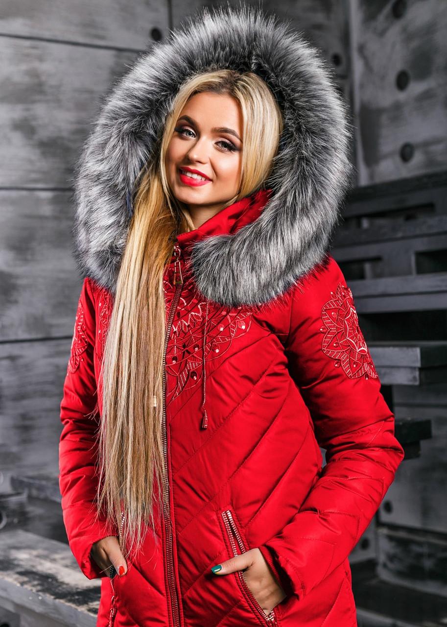 """Яркая женская теплая зимняя куртка 2348 - Интернет-магазин одежды """"Ledi-Milena"""" в Хмельницком"""